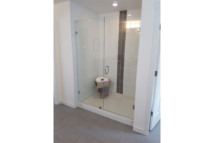 Inline Frameless Shower Door 002