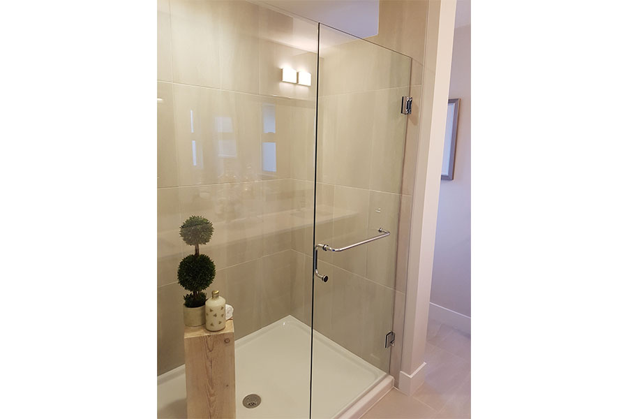 Inline Frameless Shower Door 004
