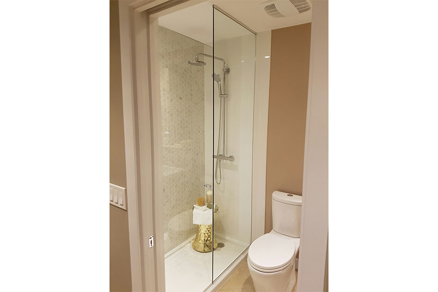 Inline Frameless Shower Door 005