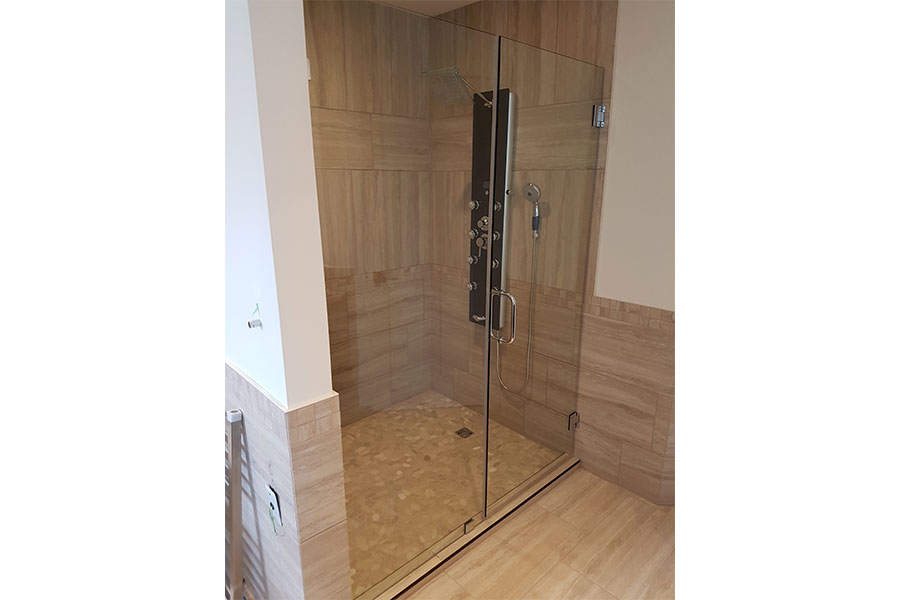 Inline Frameless Shower Door 008